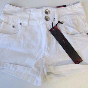 Dollhouse High Waist White Shorts